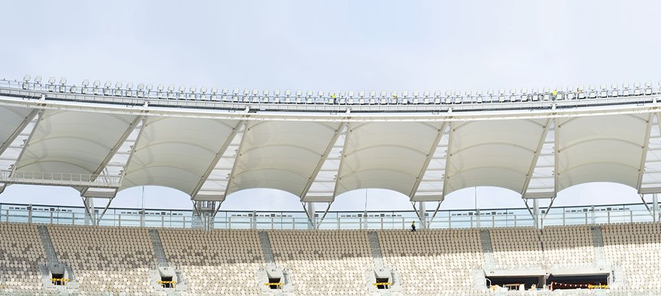 …this 60,000 seat, world-class, multi-purpose Stadium will host a variety of sports and entertainment events…""